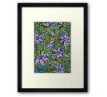 Vintage Trendy Floral Pattern Framed Print