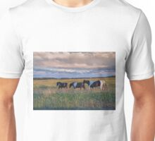 Sunset Horses Unisex T-Shirt