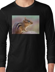 Chipmunk Portrait Long Sleeve T-Shirt