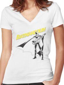 Batmandolin Women's Fitted V-Neck T-Shirt