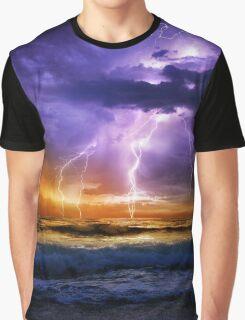 Illusionary LIghtning Graphic T-Shirt