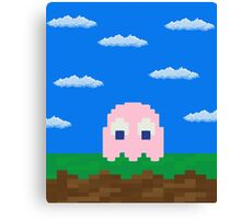 Pinky's 2D World Canvas Print