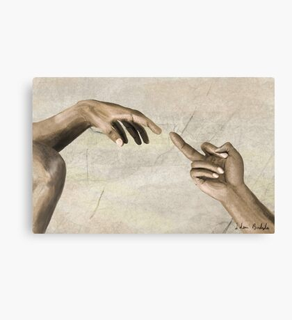The (creation of the) Finger Canvas Print