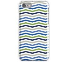 Blue and Green Sporty Chevron Pattern iPhone Case/Skin