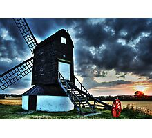 Pitstone Windmill Sunset in HDR Photographic Print