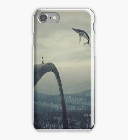 Boy and the flying whale iPhone Case/Skin