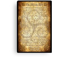 Wiccan Rede with Parchment Background Canvas Print