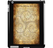 Wiccan Rede with Parchment Background iPad Case/Skin