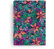 Retro Trendy Floral Pattern Canvas Print