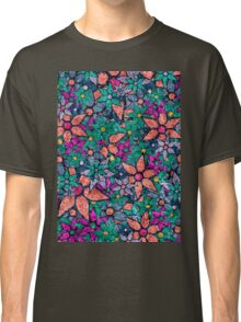 Retro Trendy Floral Pattern Classic T-Shirt