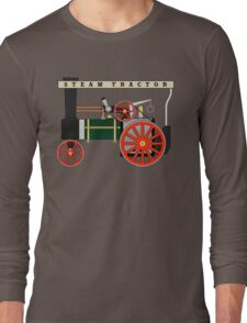 Mamod Steam Engine Tractor Design Long Sleeve T-Shirt