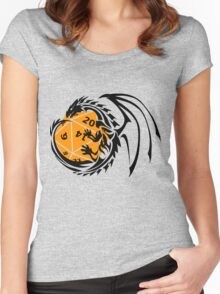 Dungeons and Dragons - Black and Orange! Women's Fitted Scoop T-Shirt