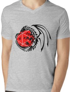 Dungeons and Dragons - Black and Red! Mens V-Neck T-Shirt