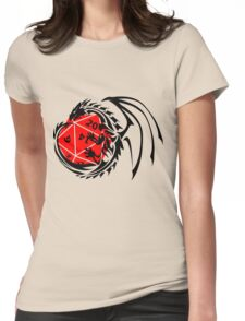 Dungeons and Dragons - Black and Red! Womens Fitted T-Shirt