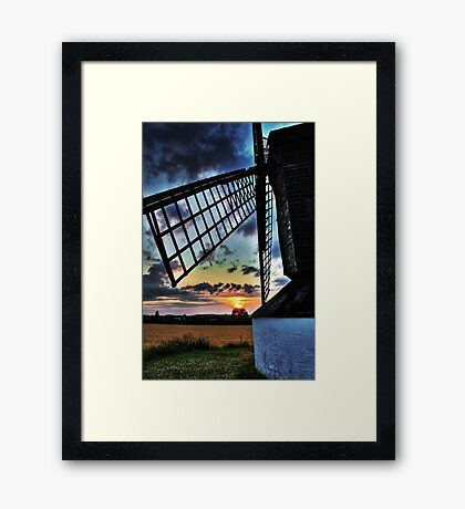 Pitstone Windmill Sunset in HDR (#2) Framed Print