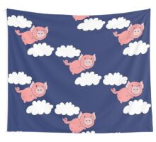 When pigs fly Wall Tapestry