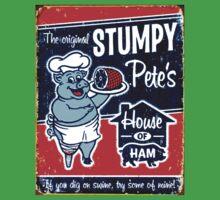 """STUMPY PETE'S"" House of Ham Advertising Print One Piece - Short Sleeve"