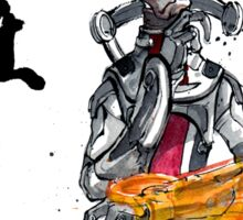 Mordin from Mass Effect Sumie Style with calligraphy Responsibility Sticker