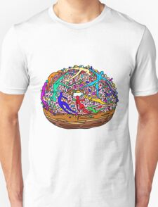 Kamasutra Space Donuts with Human Colorful Rainbow Confetti Sprinkles Unisex T-Shirt