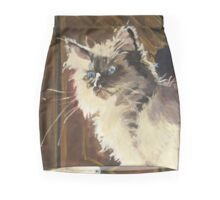 Magnificent of the Mighty Bear (Cat on Book Mountain) Mini Skirt