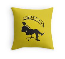 Batmanager Throw Pillow