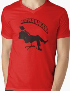 Batmanager Mens V-Neck T-Shirt