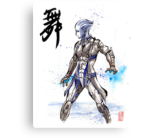 Mass Effect Liara Sumie style with Japanese Calligraphy Canvas Print