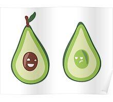 Grumpy and Happy Avocado Poster