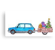 Christmas Car Canvas Print