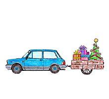 Christmas Car Photographic Print