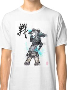 Jack from Mass Effect Sumie Style with calligraphy FIGHT Classic T-Shirt