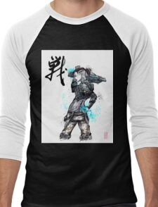 Jack from Mass Effect Sumie Style with calligraphy FIGHT Men's Baseball ¾ T-Shirt