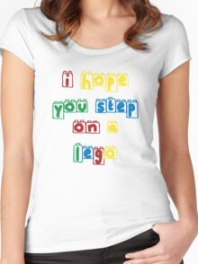 Step on a lego Women's Fitted Scoop T-Shirt