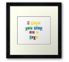 Step on a lego Framed Print