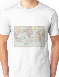 Vintage World Map (1901) Unisex T-Shirt