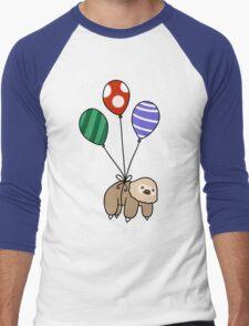 Balloon Two-Toed Sloth Men's Baseball ¾ T-Shirt