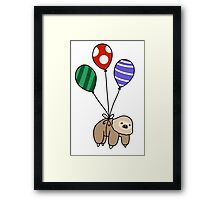 Balloon Two-Toed Sloth Framed Print