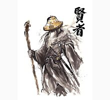 Gandalf Samurai with Sumi ink and watercolor Japanese Calligraphy Magus Unisex T-Shirt