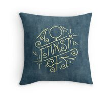 Feminist - Watercolour Illustration of Ornate Lettering With Flourishes Throw Pillow