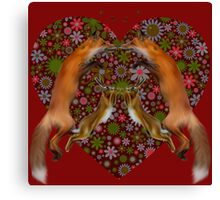 Fox and Hare Love Canvas Print