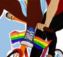 Aristotle and Dante Discover the Secrets of Pride Sticker