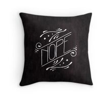 Nope - Watercolour Illustration of Ornate Lettering With Flourishes Throw Pillow