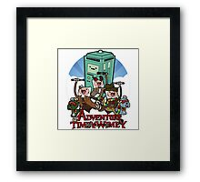 Doctor Who Adventure Time Framed Print