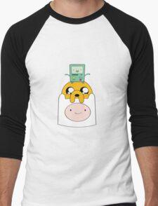 Adventure Time Totem - Finn, Jake and BMO Men's Baseball ¾ T-Shirt
