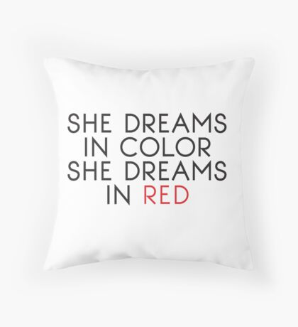 She Dreams In Color Throw Pillow
