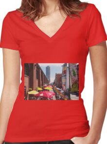 St. Lawrence Food Market Women's Fitted V-Neck T-Shirt