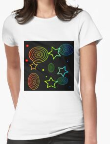 abstract colorful  background Womens Fitted T-Shirt