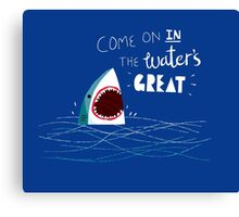 Great Advice Shark Canvas Print