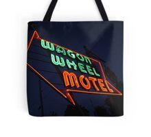 Route 66 - Wagon Wheel Motel Tote Bag