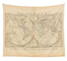 Antique Map Wall Hanging Wall Tapestry